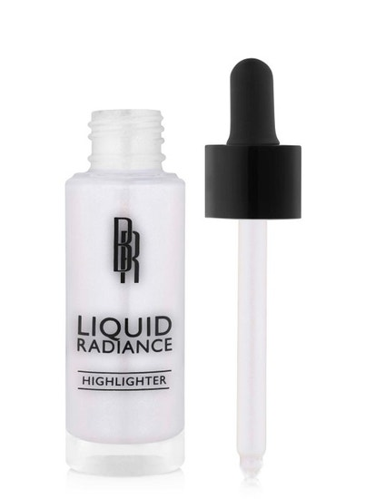 Black Radiance Beauty | Liquid Radiance Highlighter - Moonlit Glow - Product front facing applicator along side with white background