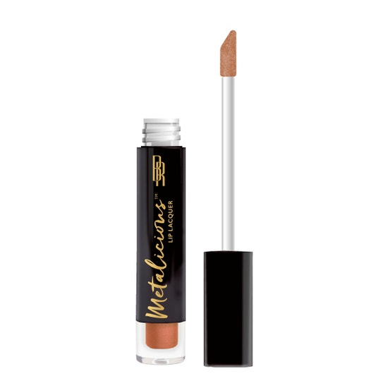 Black Radiance | Metalicious Lip Lacquer - Blow Your Top - Product front facing with applicator along side, with no background