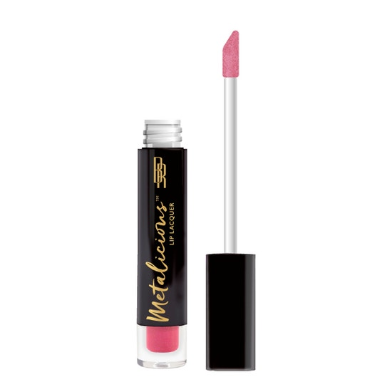 Black Radiance | Metalicious Lip Lacquer - Top Notch - Product front facing with applicator along side, with no background
