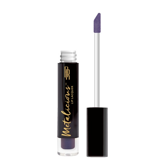 Black Radiance | Metalicious Lip Lacquer - On Top  - Product front facing with applicator along side, with no background