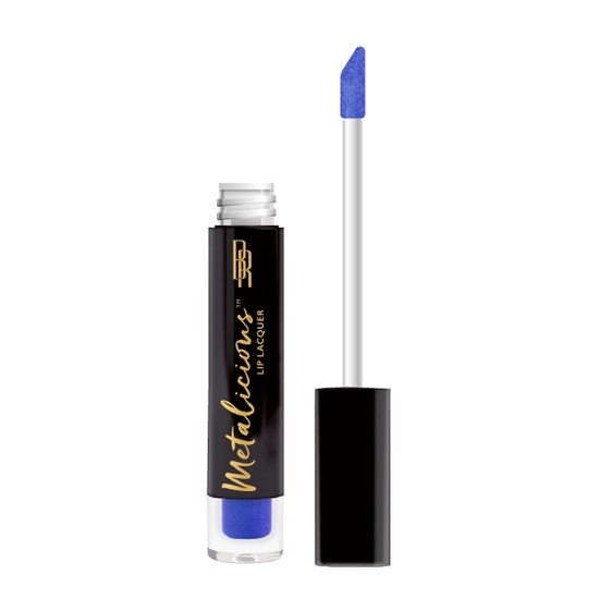 Black Radiance | Metalicious Lip Lacquer - Top Heavy - Product front facing with applicator along side, with no background