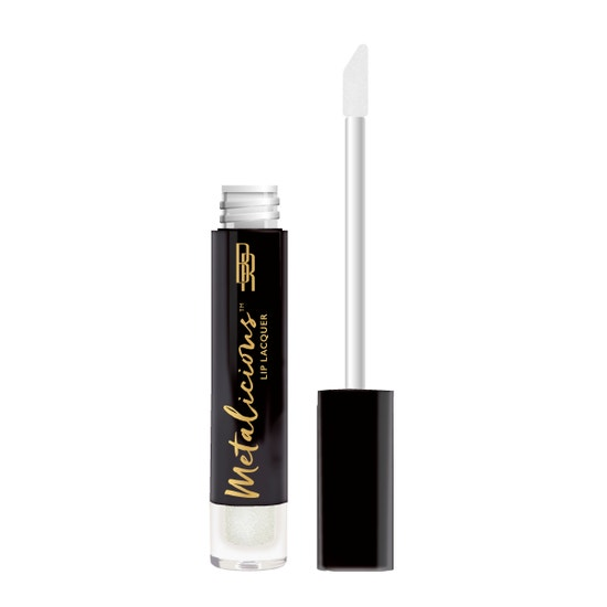 Black Radiance | Metalicious Lip Lacquer - Topped Out - Product front facing with applicator along side, with no background