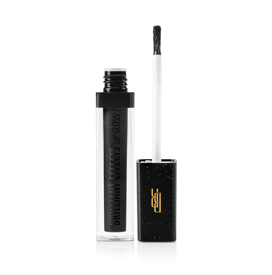 Black Radiance Beauty | BRILLIANT EFFECTS LIP GLOSS - Black Diamond - Product front facing applicator along side with white background