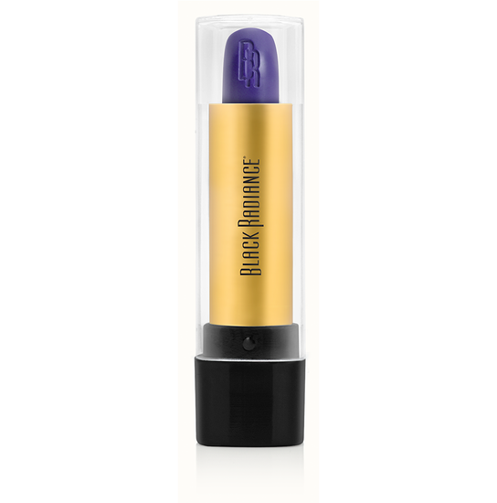 Black Radiance Beauty | PERFECT TONE LIP COLOR - Purple Madness - Product front facing, clear cap fastened with white background