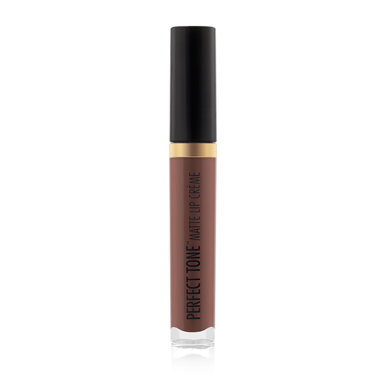 Black Radiance Beauty | PERFECT TONE MATTE LIP CREME - Naughty Brown - Product front facing, cap fastened with white background