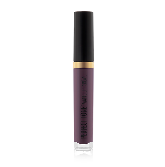 Black Radiance Beauty | PERFECT TONE MATTE LIP CREME - Succulent Plum - Product front facing, cap fastened with white background