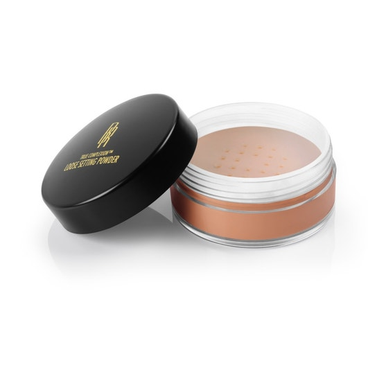 Black Radiance Beauty | True Complexion Loose Setting Powder- Honeymoon - Product front facing with lid off, with white background