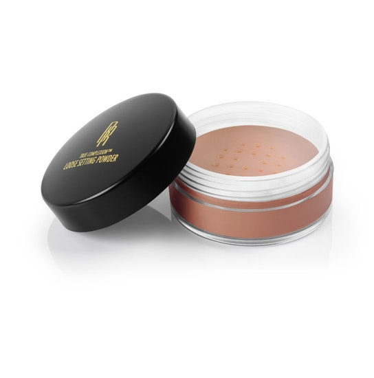 Black Radiance Beauty | True Complexion Loose Setting Powder- Cocoa Kisses - Product front facing with lid off, with white background