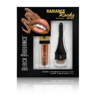Black Radiance Beauty | Radiance Rocks Lip Kit - Rose Quartz - Product front facing, in box, with white background