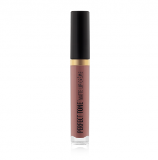 Black Radiance Beauty | PERFECT TONE MATTE LIP CREME - Go Nude - Product front facing, cap fastened with white background