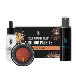 Black Radiance | True Complexion Kit - Medium to Dark - Products front facing cap fastened, with white background