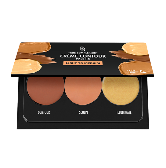 Black Radiance Beauty | TRUE COMPLEXION CREME CONTOUR PALETTE - Light To Medium - Product top view opened on a white background