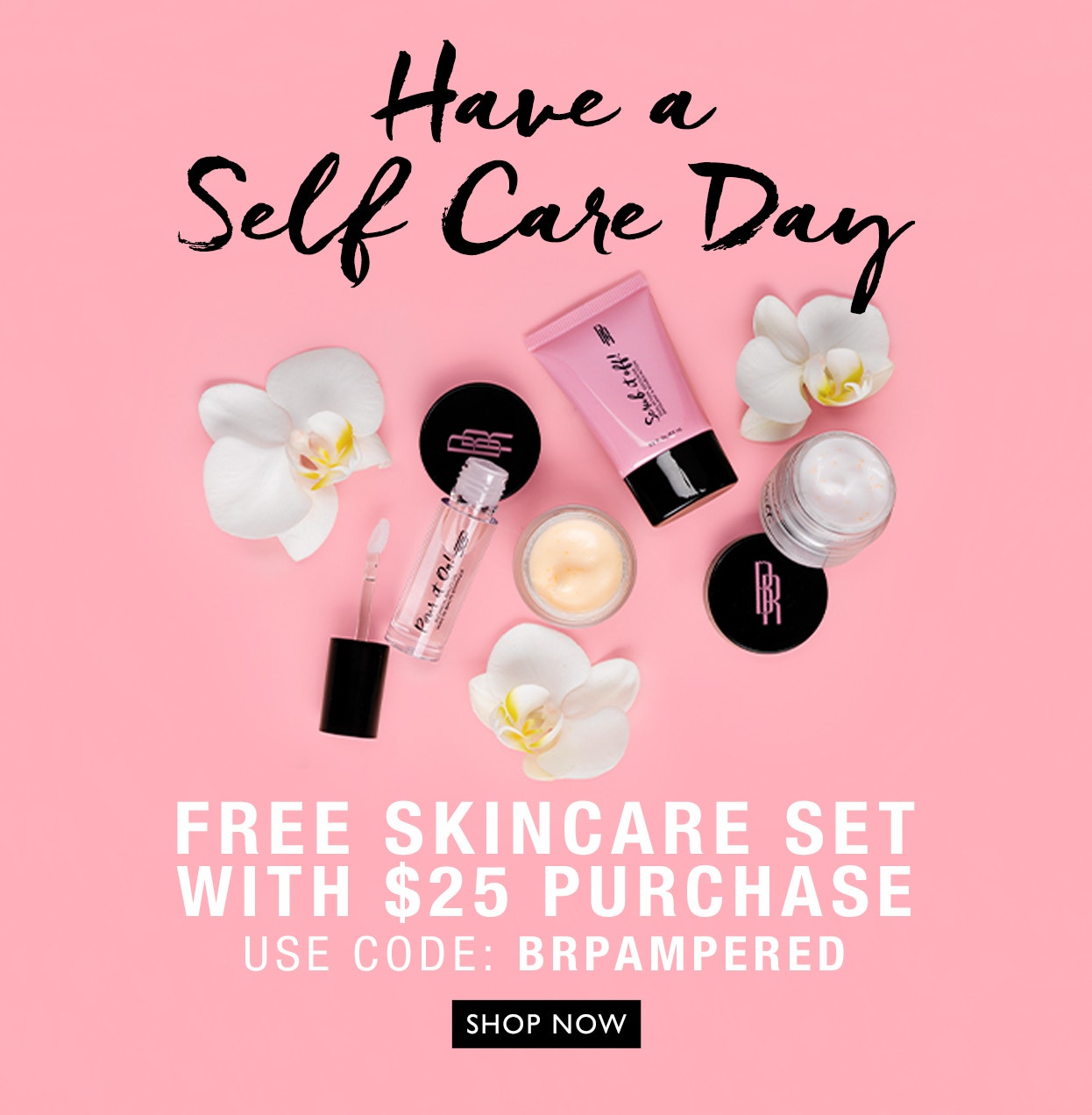 Black Radiance | Have a Self Care Day | Free Skincare set with $25 purchase | Use code: BRPAMPERED | Click Here to shop now